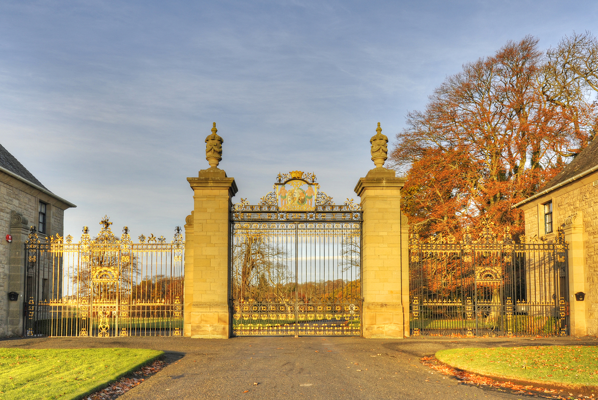 Golden Gates Floors Castle Locations Film Edinburgh